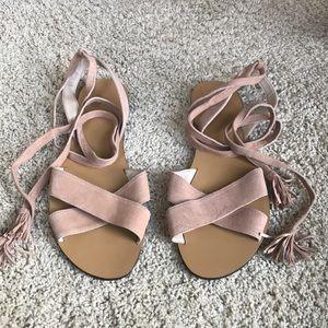 J Crew flat Grecian sandal.